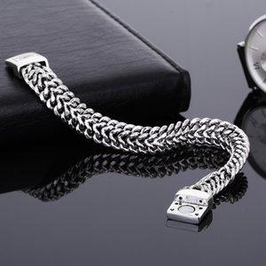 Ancient Silver Fashion Punk 11.5mm Width Buddha Bracelet for Women DIY Bangle Charms Bracelets Men Pulseira Jewelry Gift
