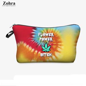zohra Polyester Hand Kosmetik Kosmetiktasche 3D-Digitaldruck Ahornblatt Pflanze Handwaschbeutel