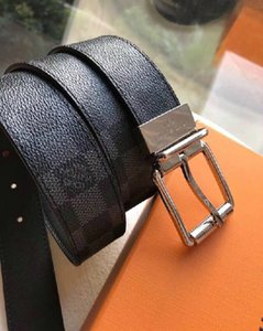 yangzizhi7 Checkerboard head layer leather bottom belt Mens Belts For Men Women Belt With Box
