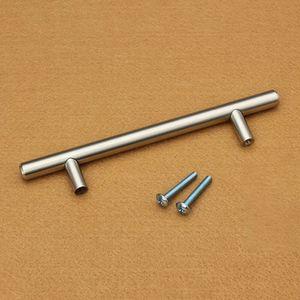 T Type Cabinet Handles Stainless Steel Cupboard Door Drawer Pulls Wardrobe Shoe Kitchen Cabinets Kitchen Accessories AHF3195