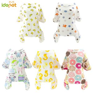 Cute Small Dogs Pajamas For Pet Dogs Cat Clothes Puppy Jumpsuit For Dog Coat Chihuahua Pomeranian Print Clothing Shirt
