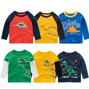 100% Cotton Kids T-shirts 2020 Boys Girls Cute Cartoon Long Sleeve Tees Tops Autumn Winter Sweatshirts for Children Boy T Shirts