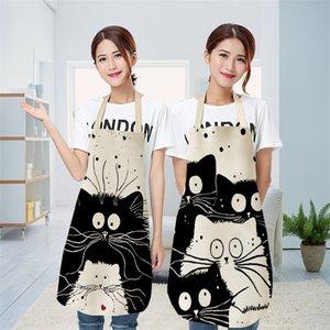 Kid Sleeveless Pinafore Cat Printing Cute Cartoon Apron Home Textiles Housewear Aprons Fashion 2020 New Pattern 8 5mya UU