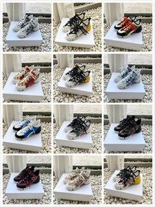 Dolce&Gabbana Dolce Gabbana Shoes Mujeres de la manera B21 zapatillas de deporte de las zapatillas de deporte de la plataforma SocksFloral Botas Zapatos Pour Hommes US4.5-9