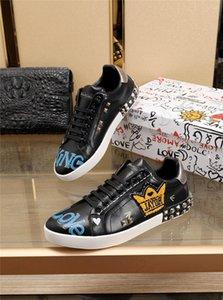 Designer D.G Leather Multicolor Portofino Heart Print Shoes Sneakers With Original Box