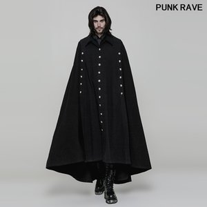 Fashion Steage Performance Cosplay Coat Gothic Palace Men Cape Wool Callor Long Cloak Mens long Jackets Punk Rave WY-878DPM
