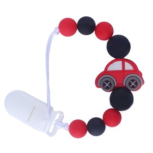 Hot Sale Creative Baby Molars Silicone Beads Pacifier Clip Chain Silicone Car Teether Anti-lost Chain Baby Teether Gifts
