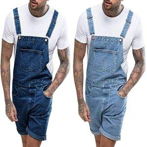 Moda Uomo Casual jeans globale Jeans dritti Tasche complesso Streetwear pieghe dritte Midweight Maschio Pantaloni blu