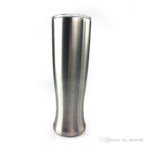طبقة مزدوجة 30oz زهرية البهلوان الفولاذ المقاوم للصدأ البيرة الأقداح Pilsners المنحنى كوب ماء مع الأغطية في الأوراق المالية