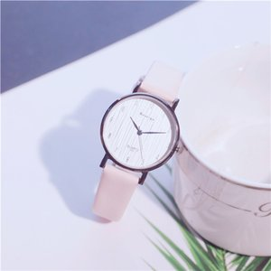 Women's Fashion Style Dress Female Casual Black Color Watch Wholesale Round Dial Student Watches 2019 Best Selling Leather Wrist Watches