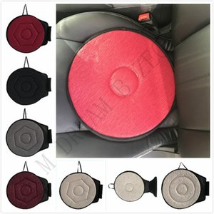 360 Degree Rotation Car Mats 3 Styles 6 Colors Cushion Mats For Office Home Bottom Seats Breathable Chair Cushion For Elderly Pregnant Woman