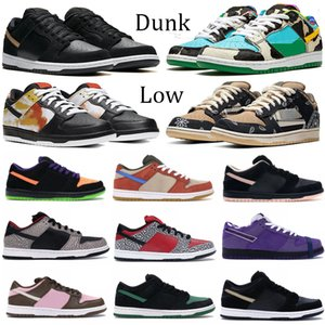 New Dunk Plat-form shoes Chunky dunky tie-dye black white Varsity Royal fashion men shoes red white cement Pine Green women casual sneakers