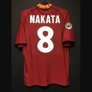 Retro Roma Futebol Totti Batistuta Nakata Roma Vintage Football Kit Classic As Roma Futbol shirt