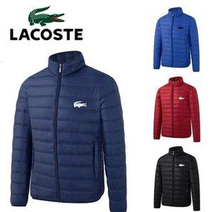 veste en duvet des hommes hiver de luxe de parka Mac LACOSTE tissu imperméable Pas de loup moyen de col de fourrure au style épais duvet veste