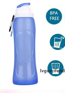 Hot Home Food Grade 500ML Creative Collapsible Foldable Silicone drink Sport Water Bottle Camping Travel my plastic bicycle bottle