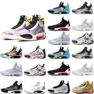 2020 New Jumpman XXXIV 34s Eclipse Snow Leopard Blue Void Amber Rise Men Basketball Shoes NakeskinJordan 34 Sport Sneakers Size 7-O3Ti#
