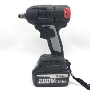Elektrikli şarj edilebilir lityum anahtarı fırçasız çift amaçlı darbeli anahtar şarjlı tornavida elektrikli tornavida rüzgar Cannon