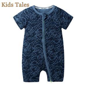 Sommer-Strampler Kids Tales Mädchen Bekleidung Kurzarm Roupas de Baby-Kleidung Neugeborene Baby-Overall-PQ131