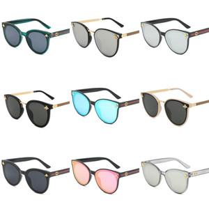 Diseñador de marcas de lujo sin montura gafas de sol para los hombres 2020 Moda de bambú de madera retro cuerno de búfalo Marrón Negro Claro lente de cristal Sunglas # 306