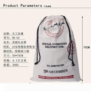 Free shipping 50pieces santa sack canvas santa sack christmas sack gift bag 3 styles fast delivery