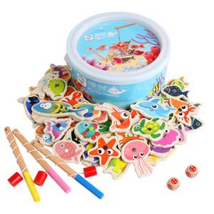 20/60 piezas Set Pesca Juego magnético de juguete para niños 1-3 años de cabritos del niño barra de los pescados 3D del bebé al aire libre para la Educación funsport Juguetes T200801