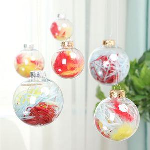 "Wedding Bauble Ornaments Christmas Xmas Plastic Balls Decoration 80mm Christmas Balls Clear Wedding balls 3""   80mm Christmas Ornaments"