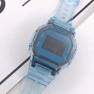 2020 유행 남성 여성 G 스타일 시계 시계 Trasparent 캔디 다채로운 귀여운 만화 충격 시계 광장 LED 디지털 Automtic 시계 다이얼