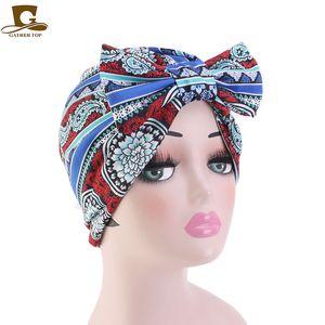 National wind bowknot apparel ladies chemotherapy parent-child caps factory direct sales TJM-411
