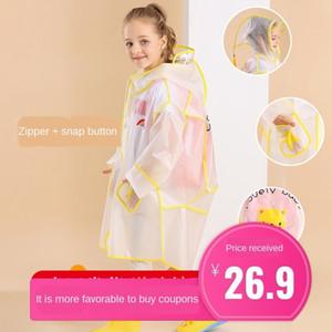 cappotto stivali da pioggia Schoolbag mantello delle ragazze impermeabile stivali da pioggia asilo poncho scolari bambino zainetto ragazzi dei bambini del vestito