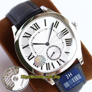 TW F5 mejor versión THK-12mm Drive De WSNM0015 Cal.1904-PS MC automática blanca número romano relojes del cuero del caso 316L hombre de acero reloj