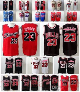 Mens College 23 Michael MJ Retro Vert Noir Blanc Rouge JerseyChicagoBasket-ball Bulls Michael MJ Mesh Maillots Vintage