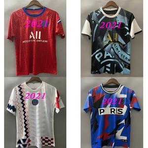 2020 باريس MBAPPE الزخم لعبة البولو لكرة القدم الفانيلة 2020 2021 تدريب قميص الأعلى VERRATTI سارابيا T SILVA DI MARIA ماركينيوس الرجال لكرة القدم