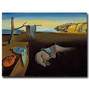 Salvador Dalí, relojes Surrealista, HD Impresión de la lona Pintura Nueva decoración del hogar Arte / (Sin marco / capítulo)