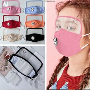 Shield 2 in 1 Face Masks Washable Cotton Mask for Kids with PM2.5 Filter Slot Protective Masks with Breather Value Full Face Cover D6811