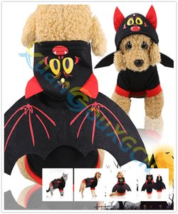 Halloween Bat pumpkin Warm Dog Cat Sweater Clothing Winter Pet Puppy Clothes Costume Small Dogs Cat Chihuahua Outfit hoodie Coat