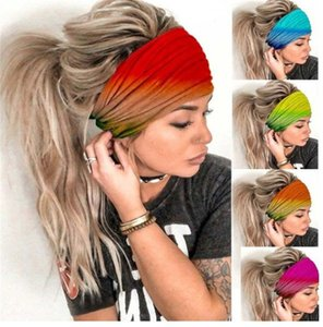 Outdoor-Run Sports Schal Mode Mountaineering-Haar-Band-Yoga-Eignung Bewegung Turban Antitranspirant-Band Mode YOGA CAP 300pcs T1I2127
