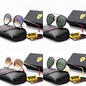 ALOZ MICC nuove donne di modo rivetta gli occhiali da sole Vintage 2020 Piazza design di lusso di nuova marca specchio di vetro di Sun Shades UV400 A151 # 677