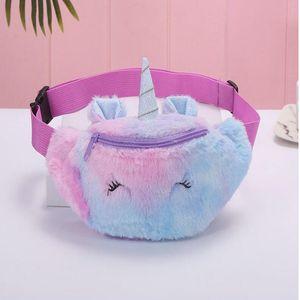 Unicorn Female Waist Bag Cute Kids Fanny Pack Cartoon Plush Women Belt Bag Fashion Travel Phone Pouch Chest Bag School Backpack For lxAdJ
