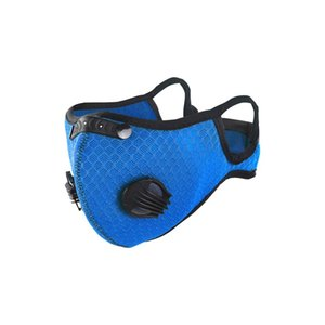 Máscara de ciclismo de deportes al aire libre Máscara de válvula de respiración para hombres y mujeres con elemento de filtro Anti-Smog Anthust Face Maks AHB3382