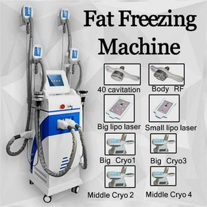 4 Handles Lipofreeze Cold Therapy Cooling System Fat Freeze Cellulite Reduction Vacuum Pressure Photon Cryolipolysis Celluite Reduction