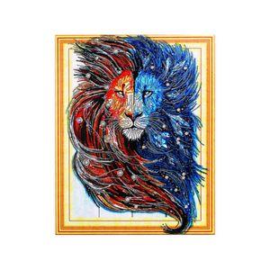 Neue volles Quadrat / Runde Drill 5D DIY Diamant-Malerei Pferd Pfau Lion Tier bunte Bilder 5D Stickerei-Kreuz-Stich 5D Home Decor