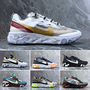 2019 React Element 87 Volt 55 Game Royal Taped Seams Running Shoes For Women men 55s Blue Chill Trainer 87s Sail Sports Sneakers E6R2C