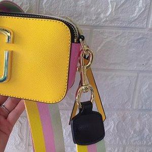 Kamera çantası yeni geniş omuz kemeri yıldızı aynı stil kadın inek derisi küçük kare çanta
