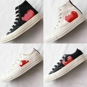 últimas Mens Comme des Garçons JOGAR Chuck 1970 sneakers, Taylor vulcanizados sapatos, skate dos homens, skate feminino