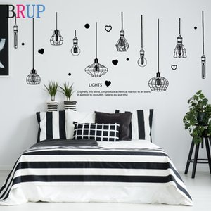 226*97cm Black Chandelier Wall Stickers Light Bulb Home Decor for Living Room Bedroom Art DIY Vinyl Wall Decals Removable
