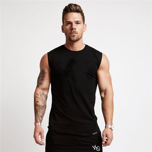 2020 new hot summer muscle brothers sports vest men's sleeveless shoulder basketball training T-shirt casual men's vest without picture