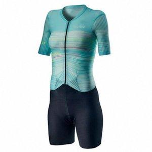 Костюмы женские 2020 задействуя набор ZOOTEKOI Triathlo скафандр Trisuit с коротким рукавом Speedsuit MTB Одежда Джерси наборы ANBT #