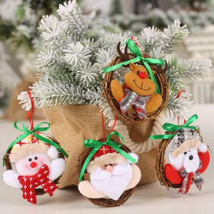 Merry Christmas Ornaments Christmas Gift for New Year Santa Claus Snowman Tree Toy Doll Hang Decorations for Home