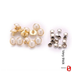 Copper edge plating Pearl accessories gold silver semicircle Pearl nail distribution negative clothing shoes accessories