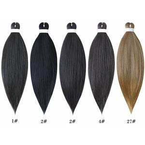 Tok Ombre İki Renkler Örgü Saç Jumbo Örgülü Saç 26 İnç 5 Paketleri Sıcak Satış Dokuma Sentetik Kolay Örgü Saç